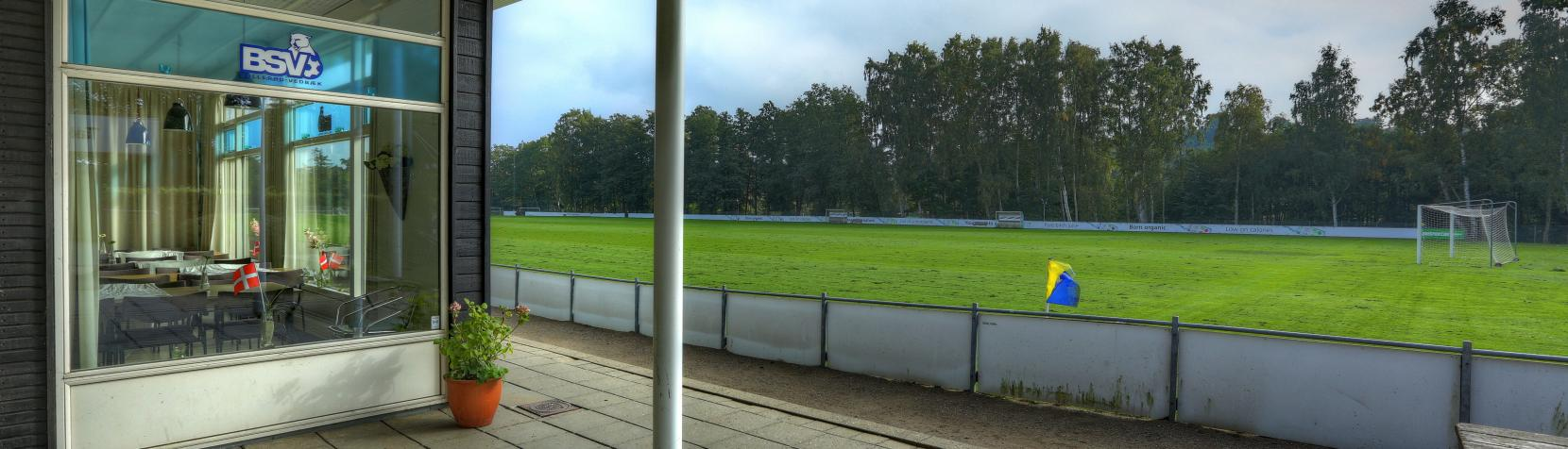 Vedbæk Stadion indgangen