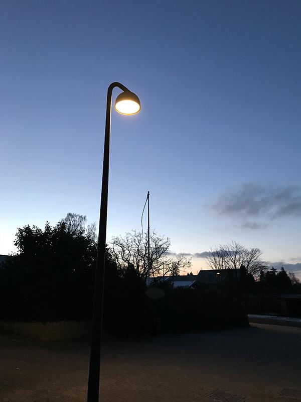 Ny gadebelysning på Stenløkken i Birkerød