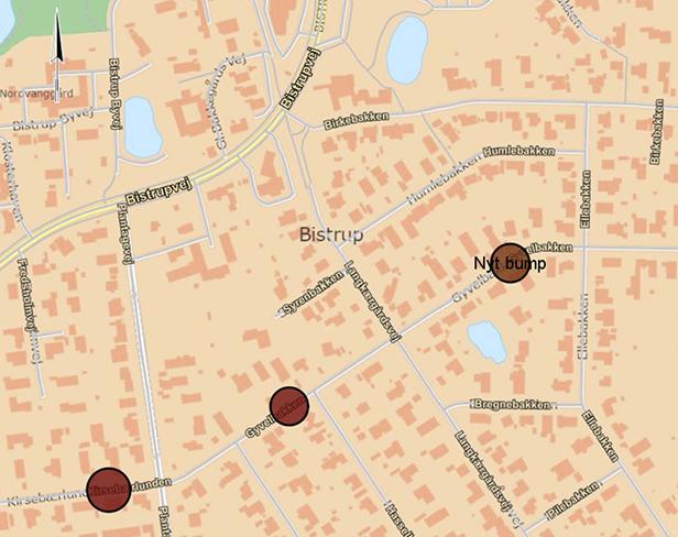Rudersdal Kommune etablerer tre nye bump i Bistrup: To på Gyvelbakken og et på Kirsebærlunden
