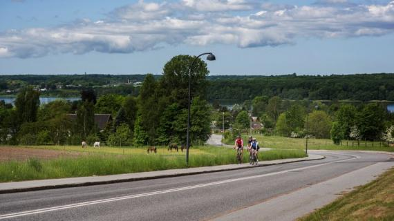 Cykeltræning på Åsbakken ved Sjælsø