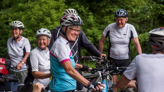 Samling inden cykeltur