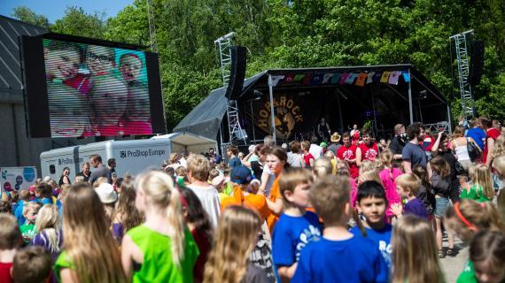 Festivalen giver børn mulighed for at stå på en stor scene.