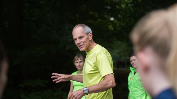 Træner fra SNIK løbeklub og medlemmer
