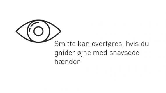 Smitte kan overføres, hvis du gnider øjne med snavsede hænder