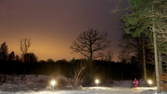 Lysløjpen vinteraften