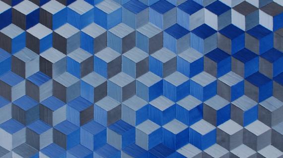 Blå kuber