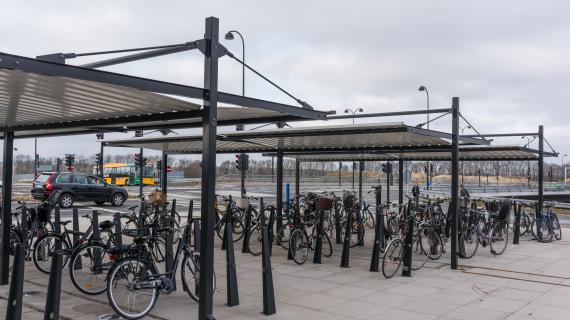 Cykelparkering ved Mariehøj Kulturcenter