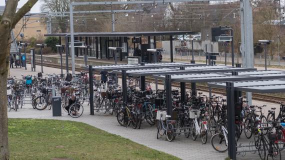Cykelparkering ved Birkerød station