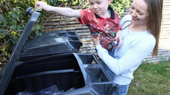 Affaldssortering på Storevang 47 i Birkerød