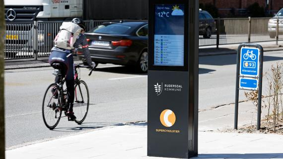 Cykelbarometer på Allerødruten