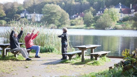 træning ved sø