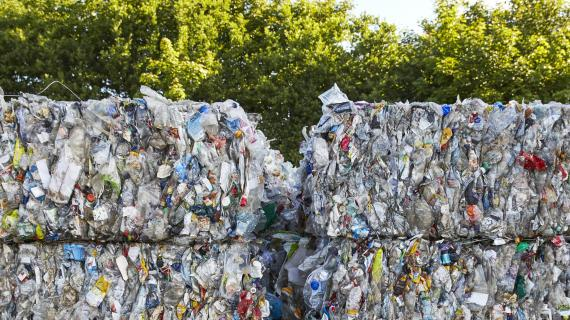 Plastik til genanvendelse.