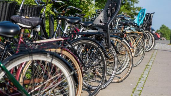 Cykelparkering ved Birkerød st.