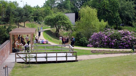 Frydenhom Park indvielse vue over Parken