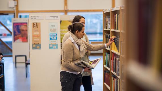 Bøger på hylderne