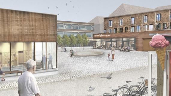 Holte Helhedsplan - forslag til åben plads i Holte Midtpunkt
