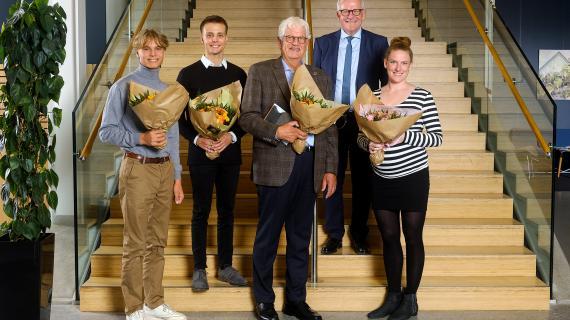 Prismodtagere og borgmester ved Frivilligfesten 2019