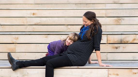 Gravid mor og barn
