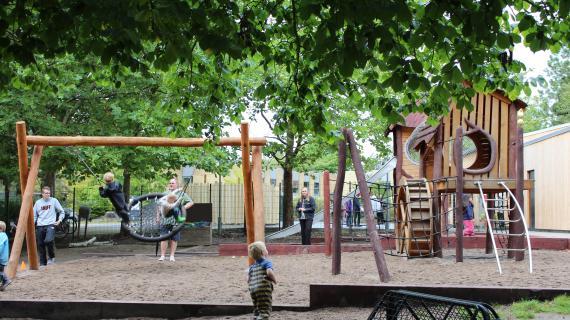 Skovlyhusets nye legeplads