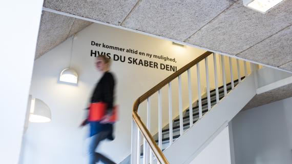 Citat på væg