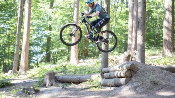 Mountainbiker i Rude Skov