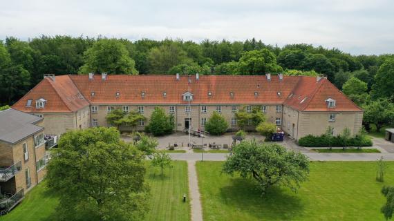Luftfoto af Piberødhus i Ebberød