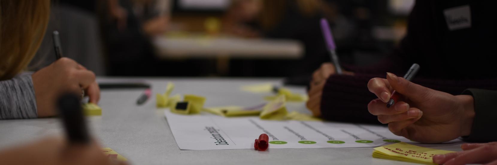 Elever brainstormer ideer