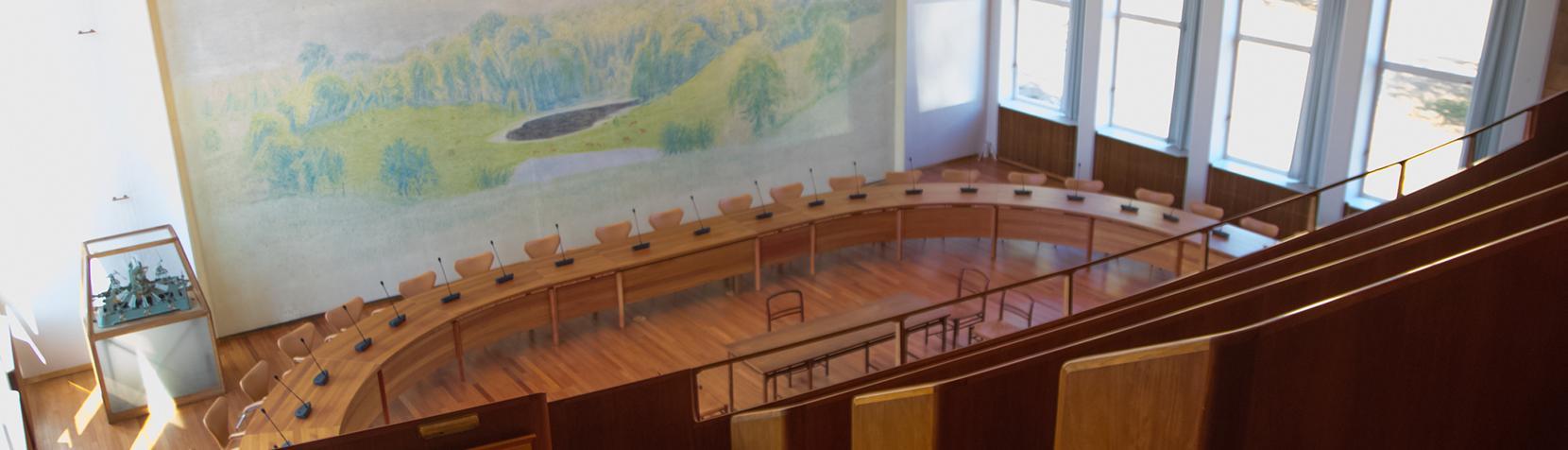 Rådssalen på Rudersdal Rådhus
