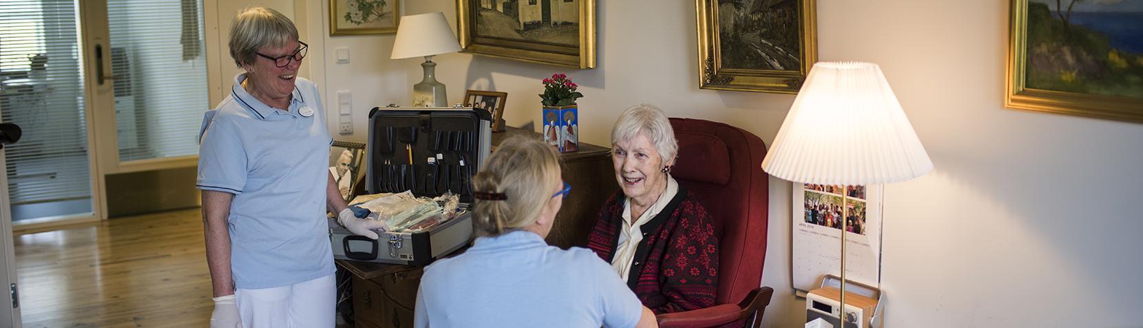 Specialtandplejen på tandlægebesøg hos en borger