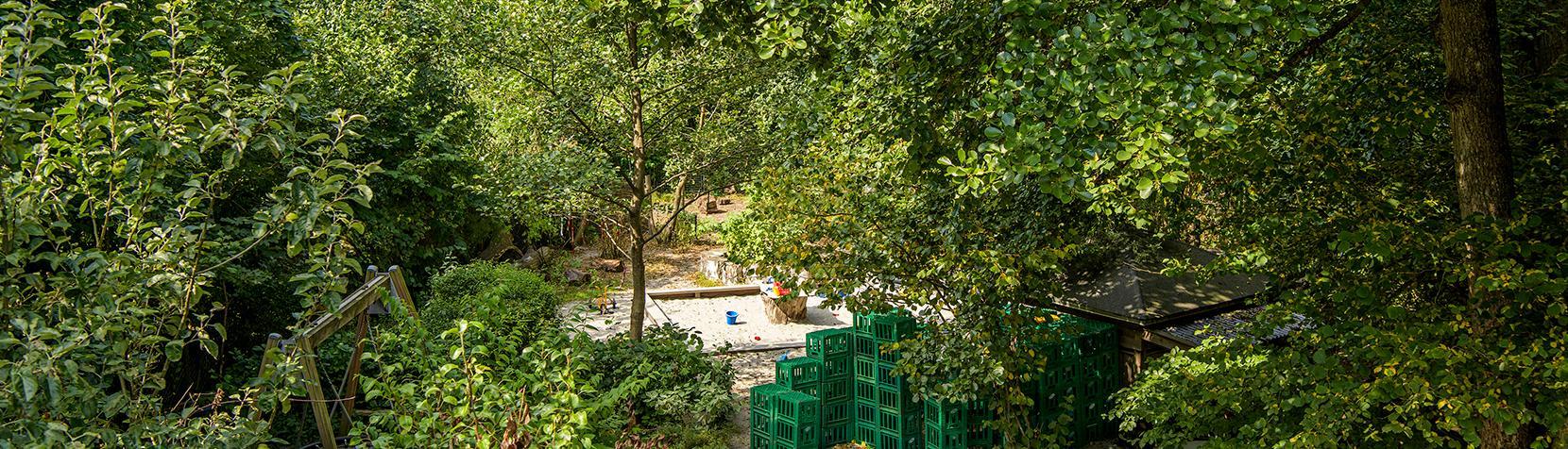 De grønne områder ved Børnehuset Elverhøj