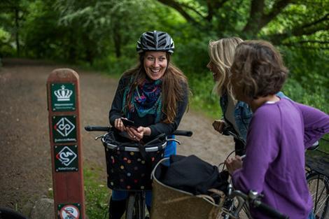 Cykeltur sammen med vennerne