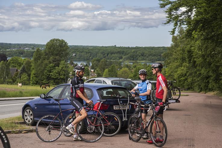 Cyklister mødes inden cykelturen