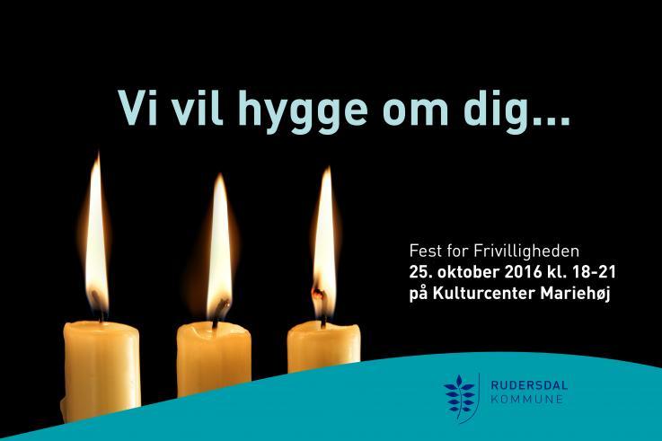 Invitation til Fest for frivilligheden 2016.
