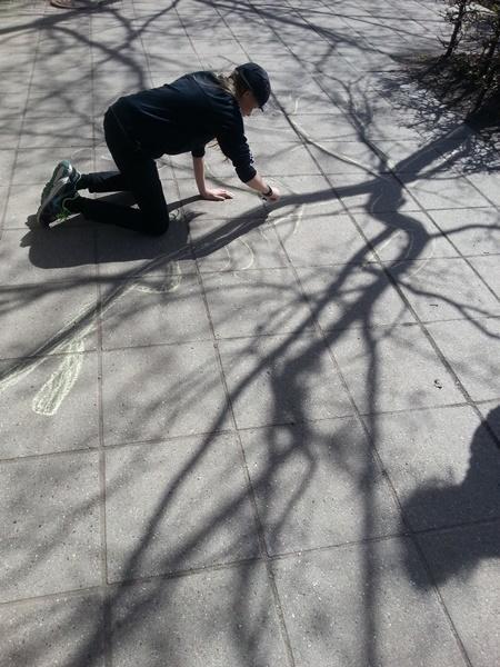 Street art tegning