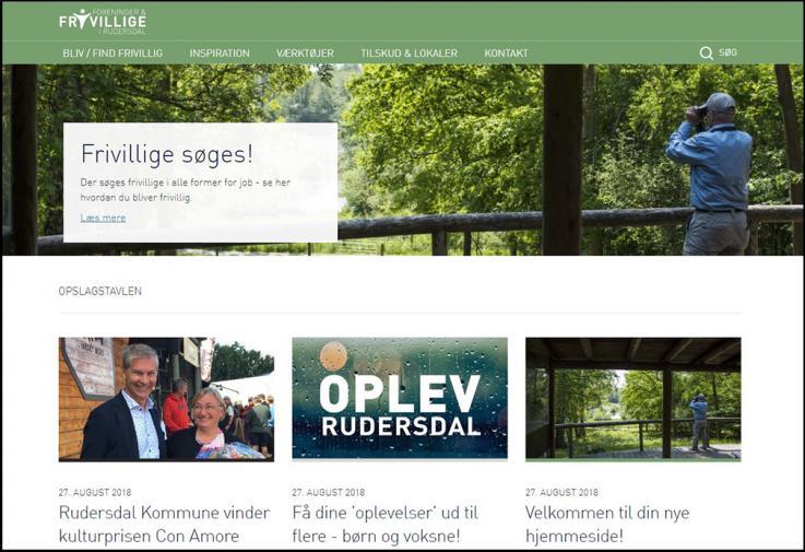 Hjemmeside for foreninger og frivillige i Rudersdal Kommune