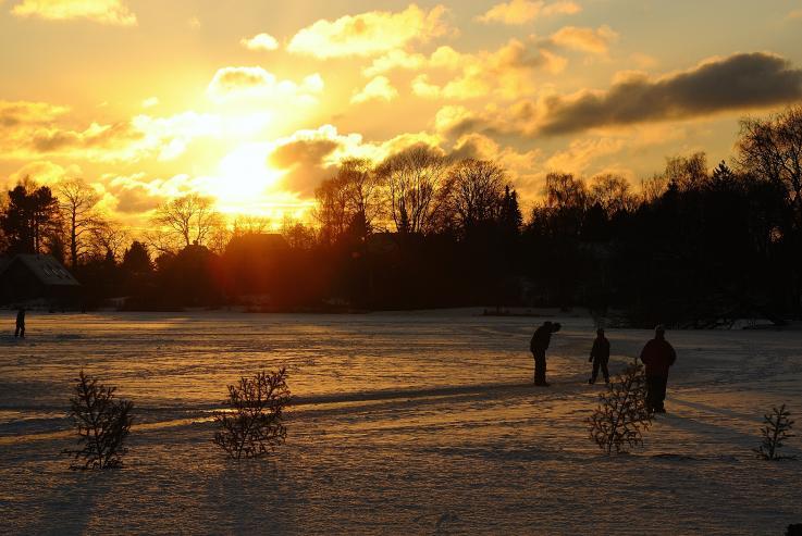 Foto: Vinteraften ved Birkerød Sø