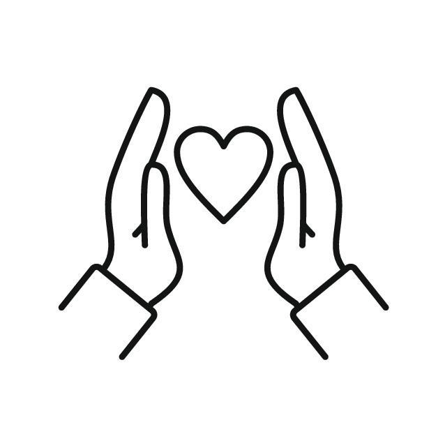 Hænder om hjerte