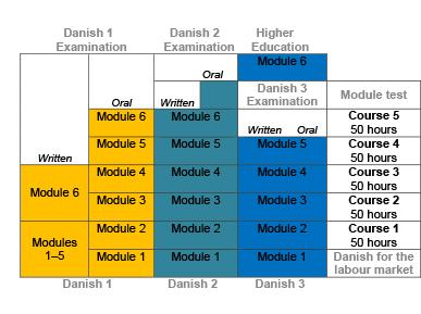 Overview of the Danish course programmes