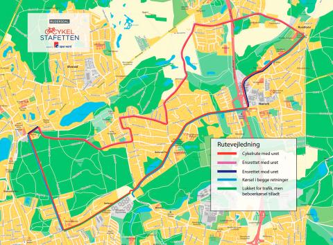 Cykelstafetten 2017 rutevejledning