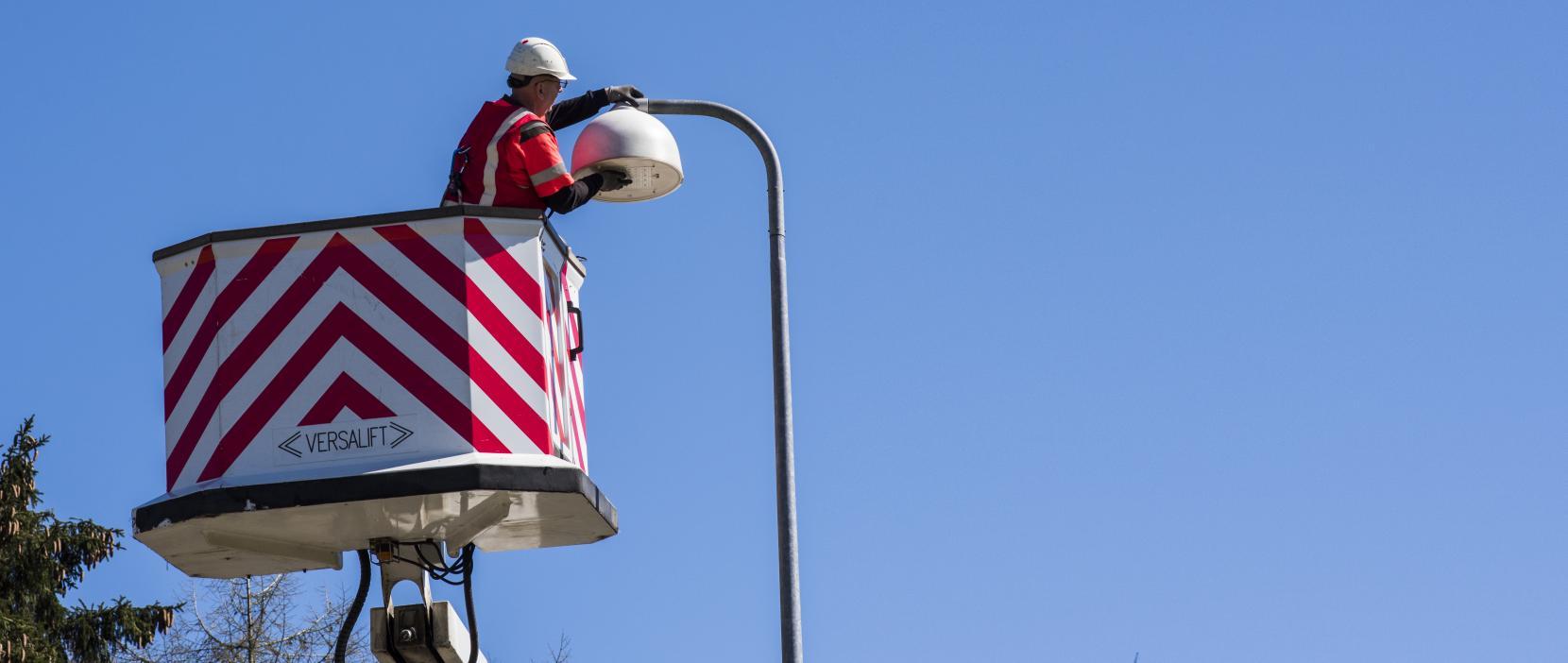 Rudersdal Kommune moderniserer vejbelysningen rundt i kommunen